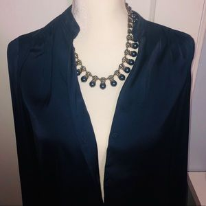 Gold/Navy Statement Necklace